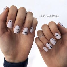 ideas manicure pedicure designs classy for 2019 Stylish Nails, Trendy Nails, Cute Nails, My Nails, Minimalist Nails, Nail Swag, Evil Eye Nails, Nails Studio, Lines On Nails