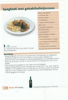 spaghetti met gehaktballetjessaus