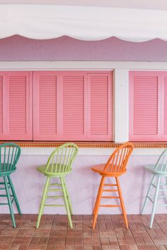 Gal Meets Glam Girls Weekend In Palm Beach - Rainbow stools