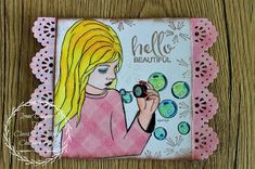 This is made by DT Member Irene Its A Girl Balloons, Team Challenges, Handmade Baby Gifts, Types Of Craft, Hello Beautiful, Digi Stamps, 3rd Birthday, Maya, Dream Catcher