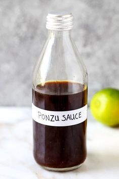 Homemade Ponzu Sauce - This is a simple and delicious recipe for Japanese ponzu sauce. Pair it with fish chicken shrimp tofu or toss use in a salad or a poke bowl this is a very versatile citrus sauce! Ponzu Sauce Recipe, Marinade Sauce, Japanese Dishes, Japanese Food, Japanese Recipes, Chutneys, Sauce Au Poivre, Asian Recipes, Ethnic Recipes
