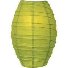 "Chartreuse Green Cocoon Paper Lanterns Wholesale.  10"" diameter x 14"" high. This ""Premium"" cocoon paper lantern is made with the finest quality rice paper and features our signature freestyle wire ribbing. This lantern also includes a versatile expander which clips directly onto a light bulb!"