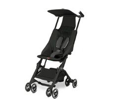 Feather-light, convenient, and ultra-compact when folded, the GB Pockit Stroller would make the perfect urban travel stroller for families constantly on-the-go. Clever design allows you to switch from pushing to easily carrying the stroller in seconds. Travel Stroller, Pram Stroller, Umbrella Stroller, Bugaboo, Best Baby Strollers, Capri Blue, Travel System, Babies R Us, Traveling With Baby