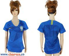 Brazil Away Women 2018 FIFA World Cup Soccer Jersey