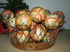 35 Vintage Decoupaged Christmas Ball Ornaments  by MemeresAttic