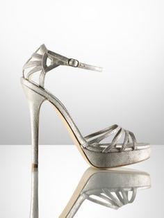 These Ralph Lauren metallic sandals are the bomb!