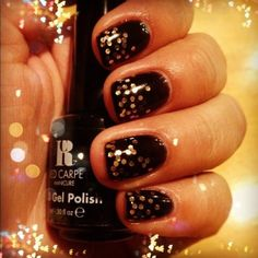 """""""Black Stretch Limo"""" by Red Carpet Manicure #redcarpetmanicure #rcm #blacknails #goldnails #gelnails #nails #manicure #glam #glamorousnails #LoydasGelNails #BlackStretchLimo @Sarah Therese Carpet Manicure @Sarah Therese Carpet Manicure UK"""