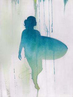 watercolor surf - Recherche Google