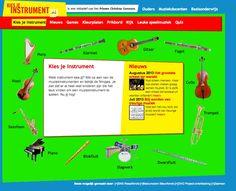 Kies je instrument, allerlei instrumenten beluisteren en leuke lessen.