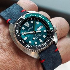 "944 Likes, 69 Comments - DK (@watchstylo) on Instagram: ""Doing a #fistbumpshot with this Green Lagoon SRPB01k1, the green teal is just beautiful, Have a…"""
