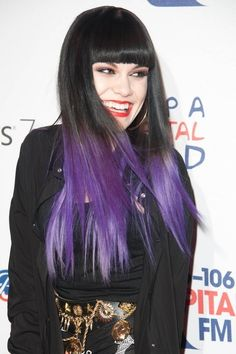 black & purple Ombre hair