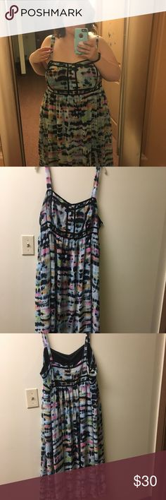 Tie dye maxi dress. This dress is literally one of my favorite items and I am so sad to part with it. I lost some weight and it just does not fit how I would like on me anymore. This dress will become a stable for spring/ summer. I received compliments every time I wore this. torrid Dresses Maxi