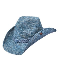 e88bfe2c Blue Cotter Cowboy Hat by Peter Grimm Hats #zulilyfinds