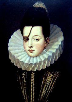 Varios - Ana de Mendoza, princesa de Éboli, duquesa de Pastrana, (1540 - 1592) cuando ella tenía 13 años de edad (1553), por recomendación de la regente de España, el futuro rey Felipe II. Su marido era un jefe de concejal y favorito de Felipe, y desde 1559 el príncipe de Éboli. A pesar de que puede haber sido ciega de un ojo, la Princesa de Éboli se consideró muy atractiva. Ella era una persona enérgica, y prominente en la vida cortesana. Uno de sus amigos era la reina, Isabel de Valois.