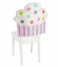 this chair cover is so sweet Cupcake Bedroom, Birthday Chair, Chair Back Covers, Glitter Cupcakes, Cupcake Party, Classroom Themes, Birthday Parties, Birthday Ideas, Slipcovers