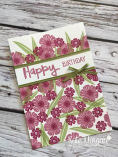 Beautiful Bouquet & Paint Play stamp sets, Old Olive Sheer Ribbon by Kate Morgan, Independent Stampin Up Demonstrator Australia