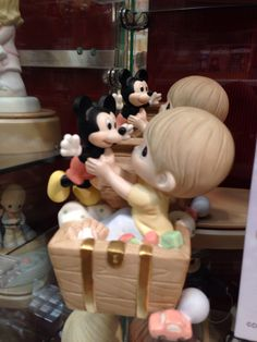 Precious Moments Disney- Mickey Mouse Mickey Love, Baby Mickey, Disney Mickey Mouse, Disney Precious Moments, Precious Moments Figurines, Disney Home, Walt Disney, Disney Figurines, Find Color