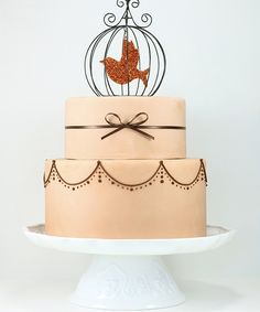 Bird in a Cage Pink Cake