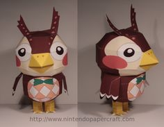 owl papercraft from animal crossing ( i love animal crossing really good game)