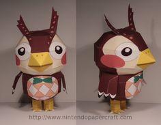 owl papercraft from animal crossing    Yep. I'm a dork