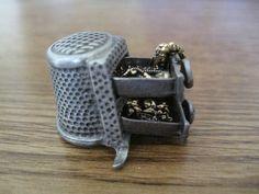 Thimble Nicholas Gish Pewter Jewelry Box RARE Thimble Draws Open Signed Detail