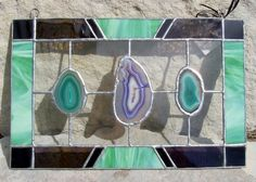 Agate stained glass.  I even love the colors!