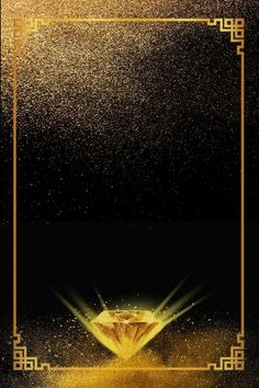 Gem Diamond Jewel Crystal Background in 2019 Gold And Black Background, Crystal Background, Gold Wallpaper Background, Diamond Background, Frame Background, Background Templates, Background Patterns, Textured Background, Black Backgrounds