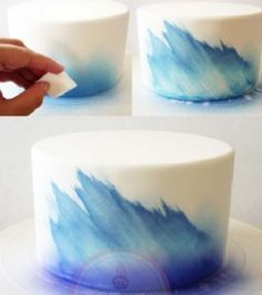 Cake airbrush technique. This is a great blog