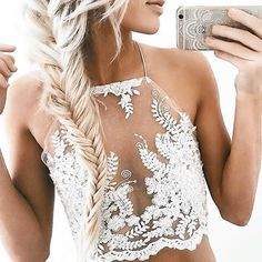 Halter Embroidered Lace Crop Top $22.90  www.behindhemlines.com  #behindhemlines #outfeeds #ootd #americanstyle #igfashion #instyle #trendingfashion #intrend #calistyle #fashion #fashionblogger #potd #lookbook #fashiongram #onlinefashionstore #fashiondaily #fashiondiaries #outfit #lacetop #lacecroprop #croptop