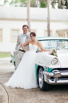 Couple with vintage car   Brooke Images