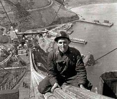 construction workers on the Golden Gate Bridge, San Francisco, 1936 - Google…