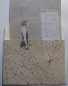 the library card collage series by kathleen sawyer for thebackoftheboat on Etsy.