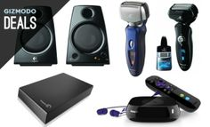 In today's deals, get some computer speakers, electric shavers, a Roku 3, and more.