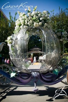 literally a Cinderella fairytale wedding ~ Wedding Carriage Cinderella Wedding, Fairytale Weddings, Princess Wedding, Cinderella Carriage, Disney Weddings, Princess Carriage, Perfect Wedding, Our Wedding, Dream Wedding