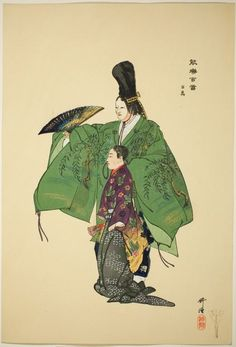 "Tsukioka Kogyo   Japanese, 1869-1927    Hyakuman, from the series ""One Hundred No Dramas (Nogaku hyakuban)"", 1898-1903    Color woodblock print.   The Art Institute of Chicago"