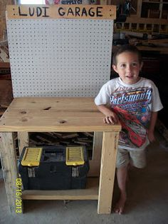 Tool Bench - DIY Homemade Christmas Gift idea for kids