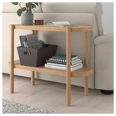 LISTERBY Console table - white stained oak - IKEA