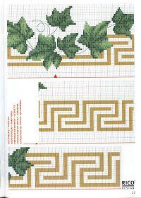 ♥Meus Gráficos De Ponto Cruz♥: Barras Florais para Toalhas de Banho - Ponto Cruz