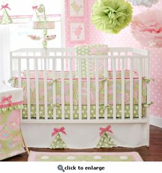 If the new baby is a girl, I love these colors for the nursery.