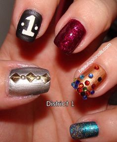 Hunger Games Nail Art District 1