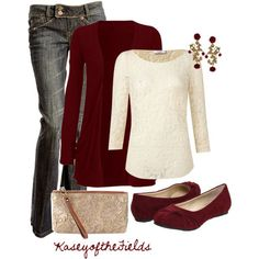 "Christmas Outfit | ""Coming Up Roses"" by kaseyofthefields on Polyvore"