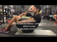 RUTINA DE EJERCICIOS PARA MUJERES - YouTube Youtube, Leg Raises, Workout Routines, Crunches, Recipes