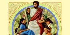 Ježiš obklopený deťmi