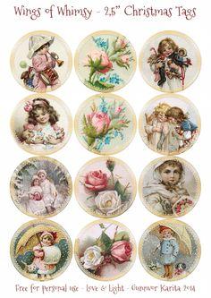 Vintage Labels Wings of Whimsy: Vintage Christmas Children Tags Vintage Tags, Vintage Labels, Vintage Ephemera, Vintage Postcards, Vintage Prints, Printable Vintage, Printable Tags, Vintage Santas, Vintage Ornaments