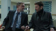 Fargo TV series on FX, Martin Freeman as Lester Nygaard  Billy Bob Thornton as Lorne Malvo