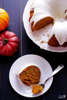 Pumpkin Spice Cake  -  It is perfectly cinnamon-y and pumpkin spiced, it is wonderfully moist, and it is topped with a heavenly cream cheese glaze.