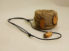 "Wooden earrings & necklace ""Elegant way II"" by balintARTline on Etsy Wooden Earrings, Wooden Jewelry, Unique Jewelry, Bucket Bag, Elegant, Trending Outfits, Bracelets, Handmade Gifts, Leather"