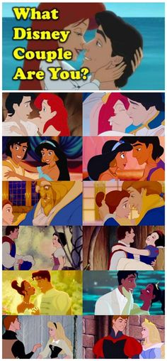 Are you Aladdin and Jasmine, Mulan and Shang, Ariel and Eric, Belle and Adam, Aurora and Phillip, Cinderella and Prince Christopher, Snow White and Prince Charming?