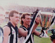 Daicos and Millane premiership run Football Cards, Baseball Cards, Collingwood Football Club, Nostalgia, Australia, Running, Black And White, Athletes, Sports