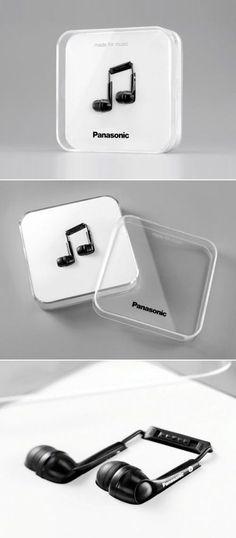 Ecco invece cosa si è inventata Panasonic semplicemente reinventando la disposizione delle cuffiette all'interno del loro packaging. Con questa idea creativa ha avuto un impressionante aumento delle vendite e una grande quantità di pubblicità su molti canali..e a voi piacciono?